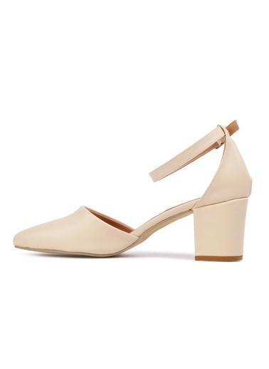 Maje 1901 Ten Kadın Topuklu Ayakkabı Ten